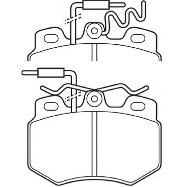 ROYAL 337 Τακάκια Για Peugeot 309 21080