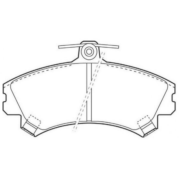 ALLIED NIPPON Τακάκια Για Mitsubishi Carisma, Colt, Smart ForFour, Volvo S40 21920