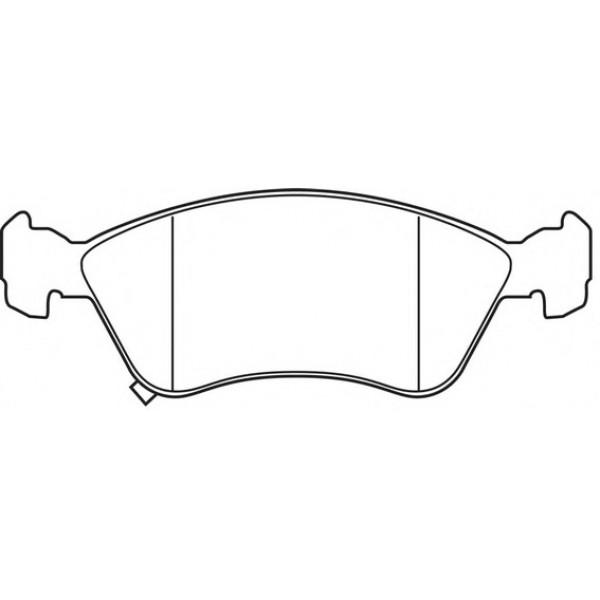 ALLIED NIPPON ADB3450 Τακάκια Για Toyota Avensis 21975