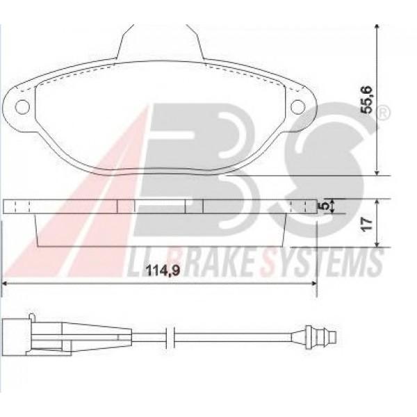 ABS Τακάκια Για Fiat Lancia, Punto 37896